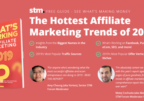 What's working in Affiliate Marketing – 2019 Edition.